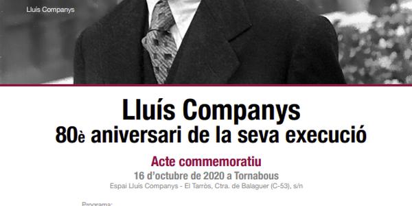Acte commemoratiu. Lluís Companys. 80è aniversari de la seva execució