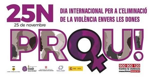 25N Dia internacional per a l'eliminació de la violència envers les dones.