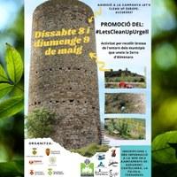 Activitat de neteja de l'entorn de la Serra d'Almenara