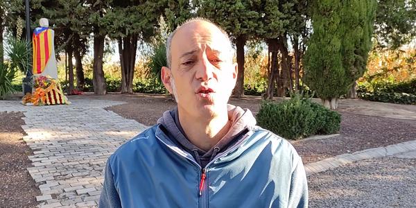 Discurs de l'alcalde de Tornabous, David Vilaró Gordillo davant del Monument a Lluís Companys del Tarròs, amb motiu del vuitantè aniversari del seu l'afusellament en mans del govern feixista espanyol