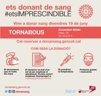 Tornabous acull una campanya especial de donació de sang.