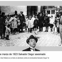 Imatge localització assessinat Salvador Segui.