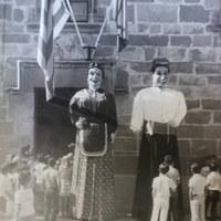 Gegants de Tornabous davant l'Ajuntament